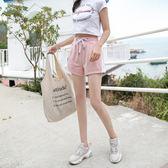 運動短褲 JNZZI2019春夏運動短褲女韓潮鬆緊時尚百搭休閒寬鬆顯瘦學生熱褲 MKS免運