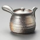 日本陶壺【美濃燒】黒備前六兵衛 橫手急須0.5L 泡茶壺