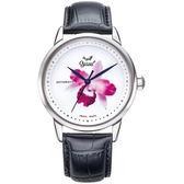 Ogival瑞士愛其華  搪瓷彩繪自動機械錶(大蘭花)