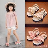 花邊女童涼鞋中大尺碼新款韓版夏季時尚兒童鞋寶寶軟底小女孩公主鞋 DR17002【Rose中大尺碼】