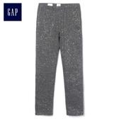 Gap女童 閃耀彈力針織打底褲 384973-深石楠灰