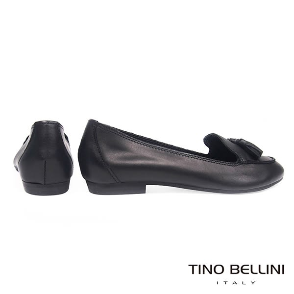 Tino Bellini 義大利進口典雅小流蘇樂福鞋 _ 黑 C63001D 歐洲進口款