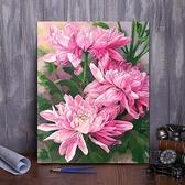 diy數字油畫 花卉手工填色減壓畫手繪油彩畫裝飾畫【極簡生活】