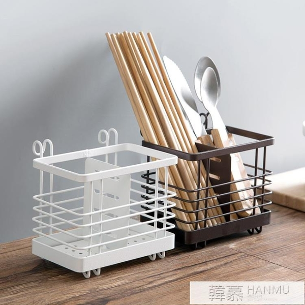 鐵藝瀝水筷籠筷子筒筷子架筷子盒家用廚房勺子收納盒筷子籠  牛轉好運到