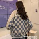 棒球外套 美式復古港味OVERSIZE外套女秋冬2021年新款高街棒球服百搭INS潮 曼慕