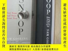 二手書博民逛書店SNOOP:What罕見Your Stuff Says Abou