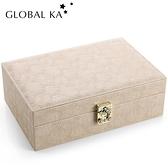 首飾盒 首飾盒大容量收納盒戒指耳環項錬手飾品高檔精致帶鎖收拾珠寶盒 風馳