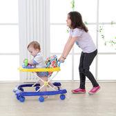 全館83折 寶寶嬰兒童學步車6/7-18個月u型多功能防側翻手推車可折疊帶音樂