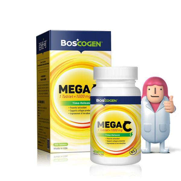 專品藥局 百仕可BOSCOGEN MEGA C 高單位緩釋C 100錠【2008051】