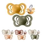 丹麥BIBS COLOUR 拇指型矽膠安撫奶嘴2入組6-18M(4色可選)