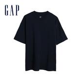 Gap男裝 棉質舒適純色圓領短袖T恤 590048-經典新海軍藍