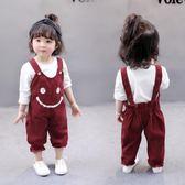 女寶寶夏季背帶褲套裝女嬰兒衣服0-1-3歲小孩男女童春裝 森活雜貨