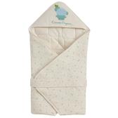 Combi 有機棉嬰兒包巾 米藍仙人掌花園 | 新生兒 | 台灣製 | 北投之家童裝【CO900800G】