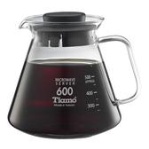 金時代書香咖啡  Tiamo 耐熱玻璃咖啡花茶壺600cc 通過SGS檢測  HG2297BK
