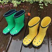 兒童雨鞋小恐龍男童寶寶女童小童雨靴小孩幼兒園水鞋防滑膠鞋套鞋 露露日記