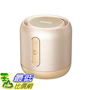 [106美國直購] Anker SoundCore AK-A31011B1 金色 喇叭 mini speaker, micro SD card & FM radio compatible