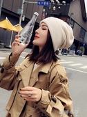 帽子女秋冬日系百搭針織毛線帽時尚韓版潮月子帽產后冬季韓國冷帽 蓓娜衣都