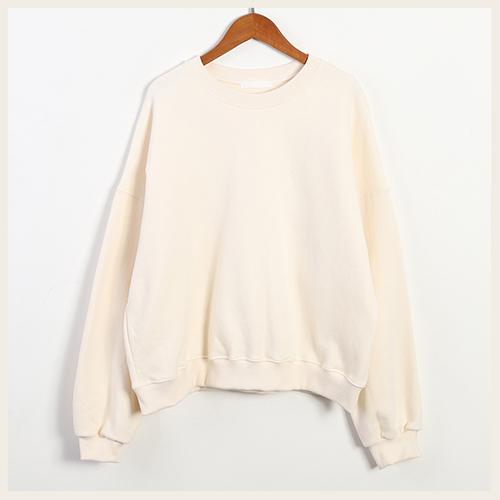✦Styleon✦正韓。簡約純色大寬袖落肩磨毛長袖T恤。韓國連線。韓國空運。1218。