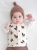 嬰兒馬甲春秋薄款新生兒坎肩男童小背心秋冬女童針織兒童寶寶秋裝 新年特惠