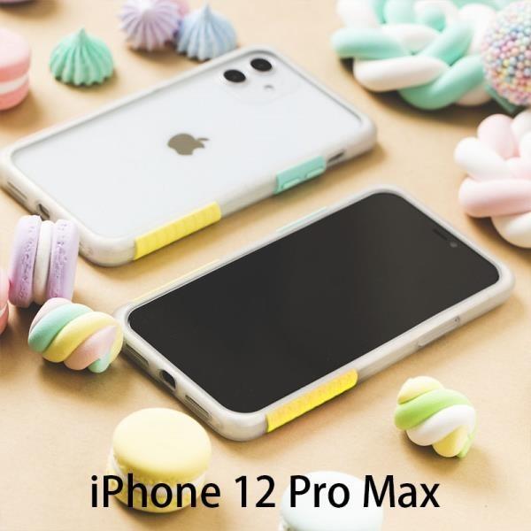 【南紡購物中心】實白框棉花糖 Telephant 太樂芬 NMDer 抗汙防摔手機殼 iPhone 12ProMax (6.7吋)