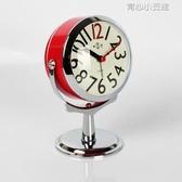 鬧鐘鬧鐘創意小鐘錶學生簡約可愛時鐘靜音床頭臺鐘兒童迷你臥室夜光鐘 育心小館