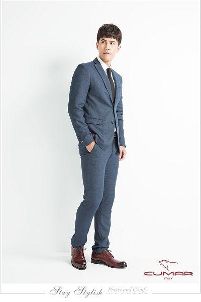 CUMAR英倫紳士 經典牛津正式皮鞋-紅