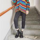 2018春季韓國原宿馬丁靴學生百搭英倫短靴女高幫皮鞋 鉅惠兩天【限時八五折】