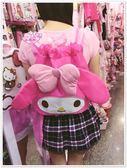 ♥小花花日本精品♥ Hello Kitty 美樂蒂 束口袋/後背包/休閒背包/縮口背袋 桃色大臉56959406