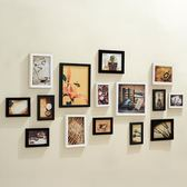 客廳懸掛15框照片墻相框墻組合臥室復古創意相片墻歐式掛墻jy【中秋節滿598八九折】