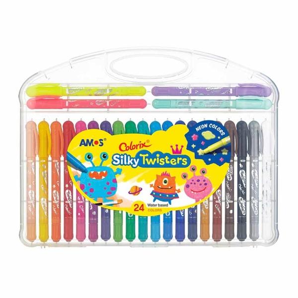 韓國 AMOS 24色細款神奇水蠟筆