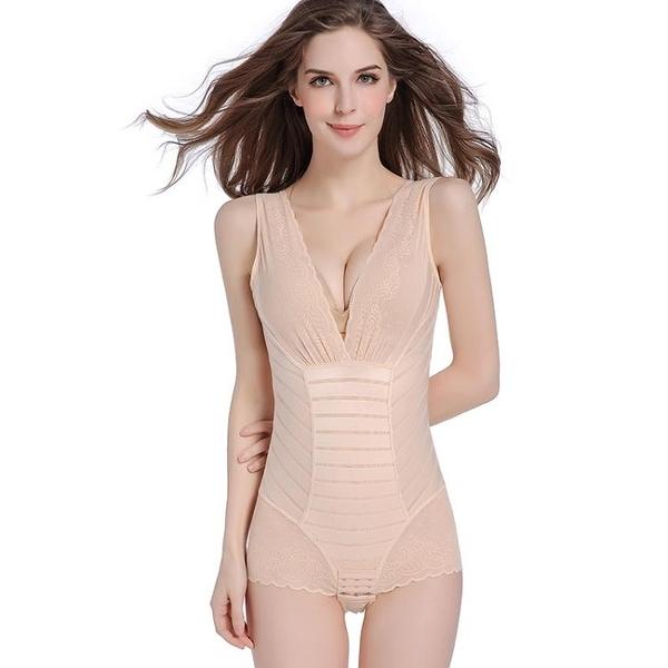 無骨連體塑身衣產後收腹束腰緊身束腹美體束身瘦身塑形內衣女士薄【MS_SSL8853】