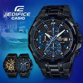 CASIO手錶專賣店 卡西歐  EDIFICE EFR-539BK-1A2 男錶 三針三眼 防水100米 碼錶 黑色離子IP處理