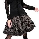 特惠短裙-復古百搭宮廷刺繡A型褶襉大襬傘裙/設計家 A06377