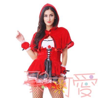 聖誕節服裝女大人性感小紅帽扮演服制服萬圣節【聚可愛】