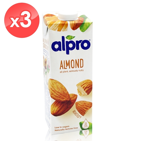 【ALPRO】原味杏仁奶3瓶組 (1公升*3瓶) 效期2021/04