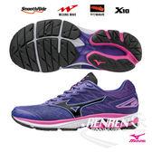 MIZUNO 美津濃 女鞋款 RIDER 20 女慢跑鞋 (紫*黑*粉)