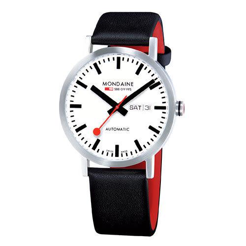 藍寶石水晶雙視窗平面機械錶/40mm (13216) Mondaine 瑞士國鐵錶