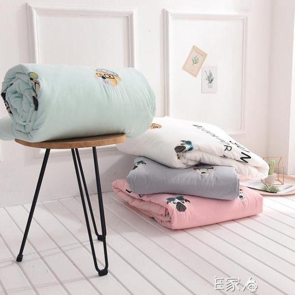 水洗棉被薄被子空調被純色