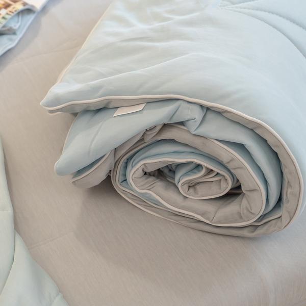 日系素色 涼感墊/涼感被【雙人組合】 涼感纖維 Q-Max值達0.328 輕膚涼爽 涼被 涼墊 夏季推薦