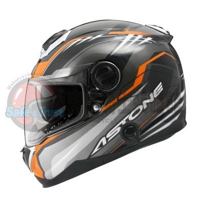 [安信騎士] 法國 ASTONE GT1000F 彩繪 AC6 黑橘 全罩 碳纖維 安全帽 內置墨片