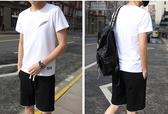 全館83折 夏季運動套裝男士短袖t恤短褲潮一套衣服韓版休閒大碼兩件套夏天