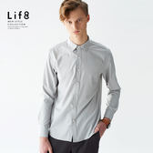 Formal 超親膚手感 經典斜紋 長袖襯衫-灰色【11157】
