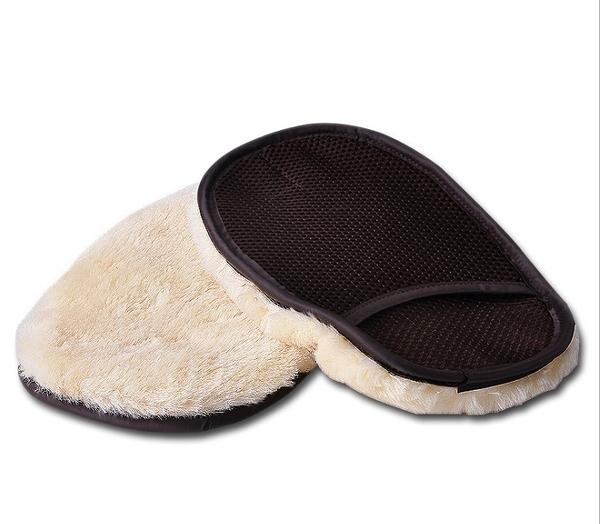 【一組兩入】仿羊毛 洗車手套 羊毛手套 自助洗車 洗車工具 汽車美容【H00503】