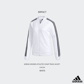 IMPACT ADIDAS WOMEN ATHLETICS TRACK JACKET 白 三線 拉鍊 外套 CW2294