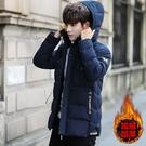 韓版外套羽絨外套 男士棉衣冬季潮流棉服 夾克外套加絨羽絨服 連帽加厚男生外套 修身男士外套