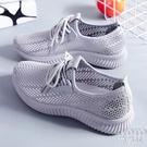 運動鞋女飛織網面女鞋夏季透氣百搭休閒女士輕便軟底健身跑步鞋子 快速出貨