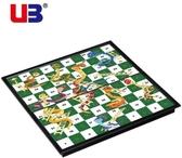 棋類UB 友邦蛇梯棋蛇棋3D 蛇和梯子游戲磁性棋子摺疊棋盤兒童棋類玩具棋莎拉嘿幼