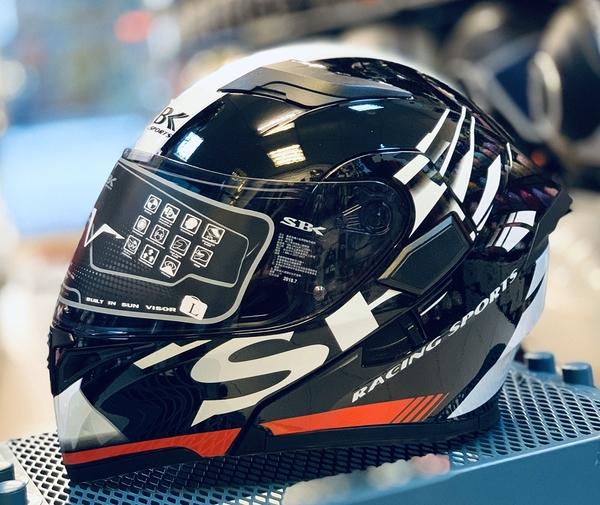 SBK安全帽,可掀式全罩安全帽,SV,PRIDE/黑白