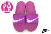 NIKE拖鞋 女款  BENASSI SOLARSOFT 防水拖鞋 N7067#桃紫 零碼出清 ◆OSOME奧森鞋業