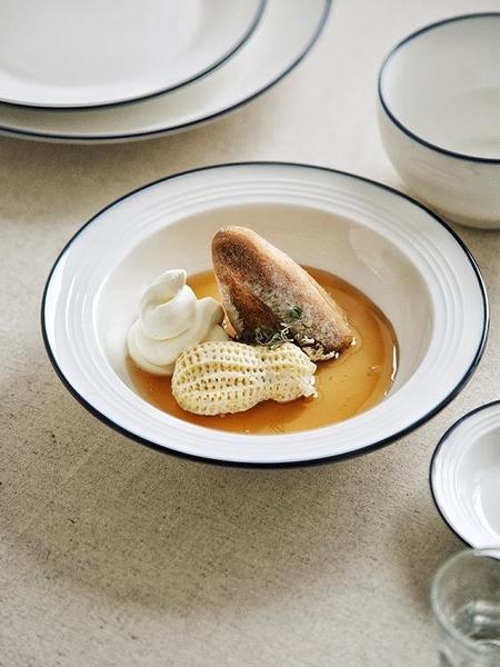 盤子菜盤家用餐盤創意北歐牛排盤西餐盤陶瓷盤子早餐盤湯盤 一木良品